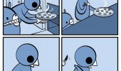 bird cooking pizza comic just two slices funny pics pictures pic picture image photo images photos lol