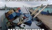 shipment of fail has been delivered boat sinking crash water harbor funny pics pictures pic picture image photo images photos lol