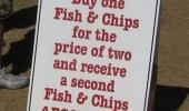 todays special one price two free fish chips sign funny pics pictures pic picture image photo images photos lol