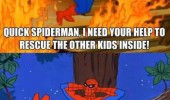captain america kids fire help spiderman not in avengers funny pics pictures pic picture image photo images photos lol