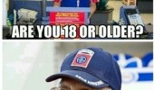 checkout boy store are you 18 old man retarded funny pics pictures pic picture image photo images photos lol