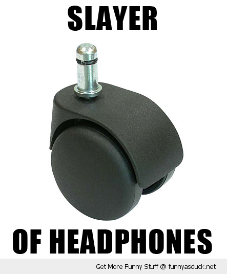 computer pc chair wheel slayer of headphones funny pics pictures pic picture image photo images photos lol
