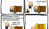 cyanide happiness comic homeless guy win lottery gold box funny pics pictures pic picture image photo images photos lol