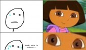 dora explorer rage comic meme one does not simply ignore questions funny pics pictures pic picture image photo images photos lol