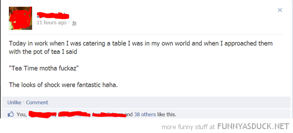 facebook status catering table tea time mother fucker funny pics pictures pic picture image photo images photos lol