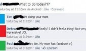 facebook status doing your mom funny pics pictures pic picture image photo images photos lol