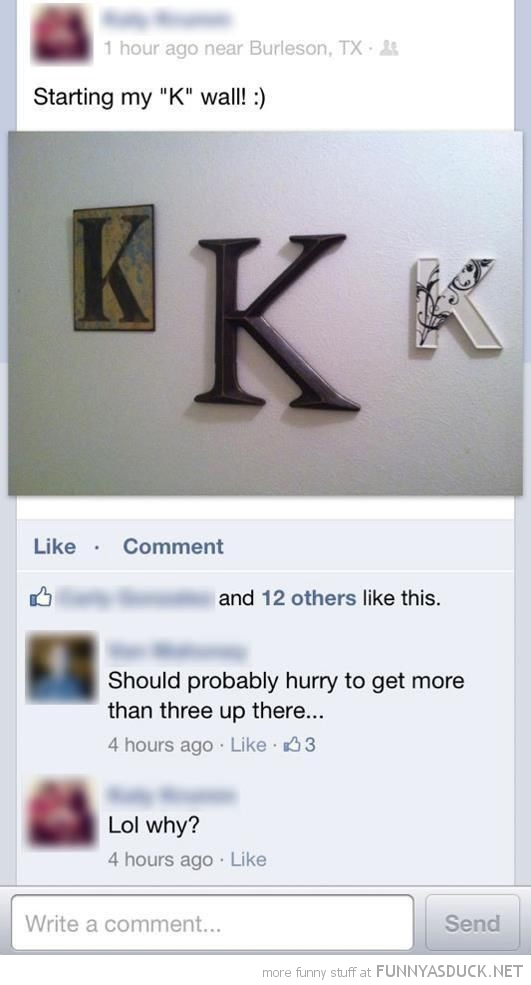 k wall facebook status hurry get more up there funny pics pictures pic picture image photo images photos lol