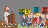 family guy tv scene jesus god hates fags wrong everything westboro church funny pics pictures pic picture image photo images photos lol