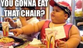 fat kid boy mcdonalds you gonna eat that chair funny pics pictures pic picture image photo images photos lol