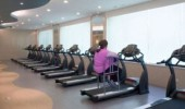 funny fat woman chair treadmill gym meanwhile america funny pics pictures pic picture image photo images photos lol
