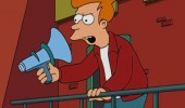 fry futurama mega phone shouting stop acting supid tv show funny pics pictures pic picture image photo images photos lol