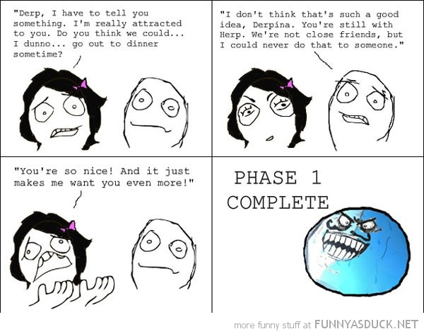 girl boy attracted you rage comic phase 1 complete i lied meme funny pics pictures pic picture image photo images photos lol