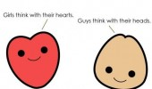 girls think heart boys head penis dick comic funny pics pictures pic picture image photo images photos lol