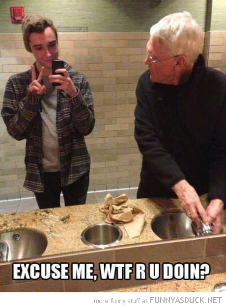hipster guy selfie shot mirror toiler bathroom old guy wtf are you doing funny pics pictures pic picture image photo images photos lol