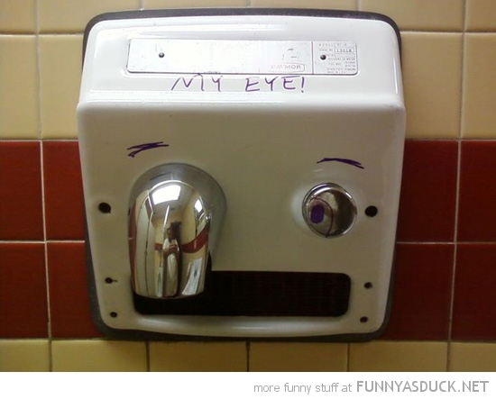 toilet hand dryer face my eye funny pics pictures pic picture image photo images photos lol