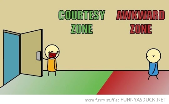 holding door open awkward courtesy zone comic funny pics pictures pic picture image photo images photos lol