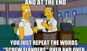 homer simpson restaurant critic newspaper report repeat screw ned flanders tv scene funny pics pictures pic picture image photo images photos lol