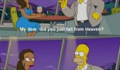homer simpson tv scene fell from heaven hair messed up funny pics pictures pic picture image photo images photos lol