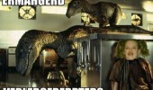 jurrasic park movie ermahgerd girl meme raptors dinosaurs kitchen funny pics pictures pic picture image photo images photos lol