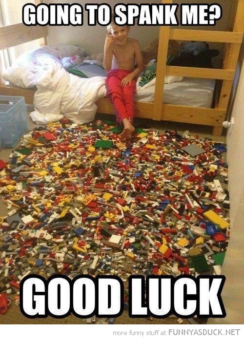 kid boy lego floor spank me good luck funny pics pictures pic picture image photo images photos lol
