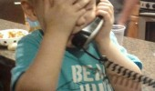 kid boy on phone face palm told you babe friend from daycare funny pics pictures pic picture image photo images photos lol