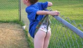 kid boy wedgie fence shorts underwear fail funny pics pictures pic picture image photo images photos lol