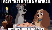 lady and tramp disney movie film eating kiss bitches love meatballs animals dogs funny pics pictures pic picture image photo images photos lol