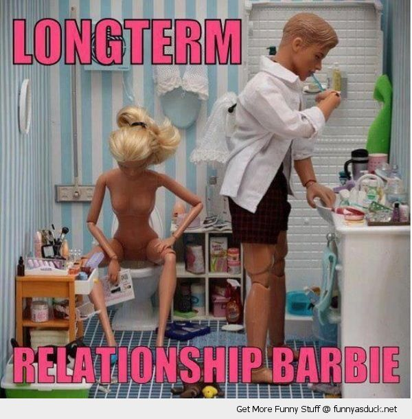 long term relationship barbie doll toy toilet ken brushing teeth funny pics pictures pic picture image photo images photos lol
