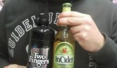 man beer bottles two fingers in cider see what you did there meme funny pics pictures pic picture image photo images photos lol