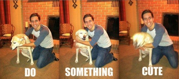 man hugging annoyed bored dog animal do something cute funny pics pictures pic picture image photo images photos lol