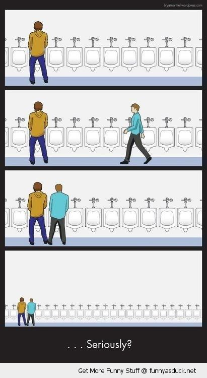 mens toilet comic urinal pee beside piss seriously restroom funny pics pictures pic picture image photo images photos lol
