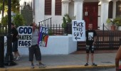 westboro church man sign god hates fags fuck this guy funny pics pictures pic picture image photo images photos lol