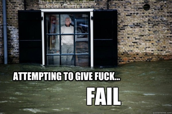 man standing window flood water street house attempting to give a fuck fail funny pics pictures pic picture image photo images photos lol