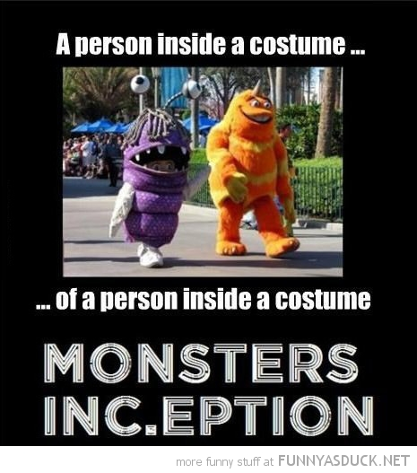 person inside costume boo monsters inc.eption inception movie film funny pics pictures pic picture image photo images photos lol