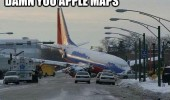 plane crashed road street damn you apple maps cars funny pics pictures pic picture image photo images photos lol