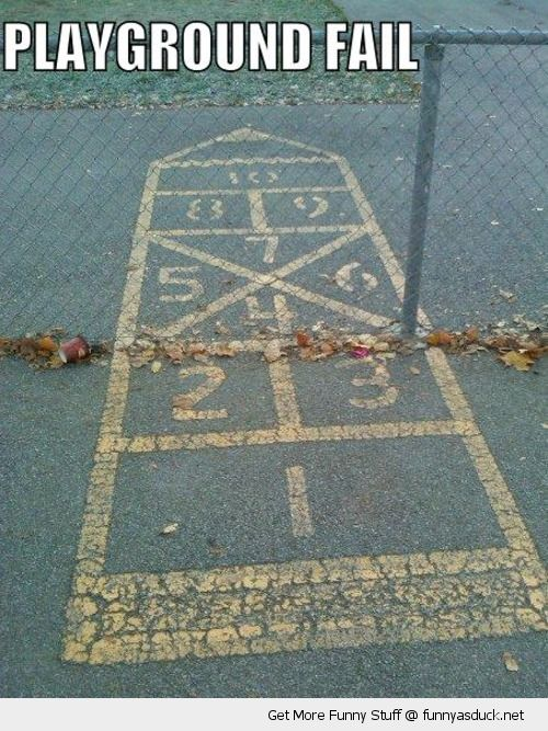 play ground fail hop scotch school fence kids funny pics pictures pic picture image photo images photos lol