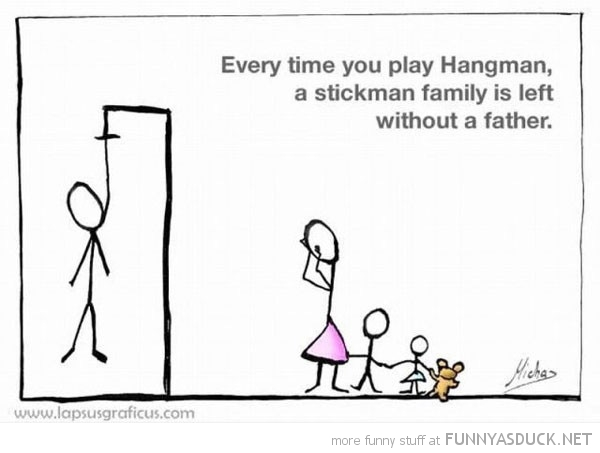 play hangman stickman family loses father comic funny pics pictures pic picture image photo images photos lol