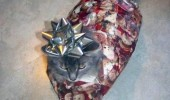 cat wrapped up present xmas christmas lolcat animal death slow painful angry grumpy bow head funny pics pictures pic picture image photo images photos lol
