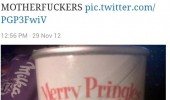 tweet twitter status pringles stupid motherfuckers merry crispmas bells bad pun joke funny pics pictures pic picture image photo images photos lol