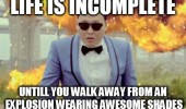 psy gangnam style life incomplete walk away explosion wearing awesome sunglasses funny pics pictures pic picture image photo images photos lol