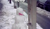 snow winter christmas xmas hello this is snowman phone booth call box funny pics pictures pic picture image photo images photos lol