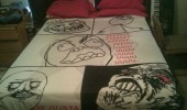 rage comic meme bed covers duvet sheet funny pics pictures pic picture image photo images photos lol