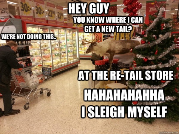 reindeer animal shop store joke new tail retail sleigh myself xmas christmas santa  funny pics pictures pic picture image photo images photos lol