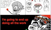 group roject school rage comic meme nerd do everything funny pics pictures pic picture image photo images photos lol