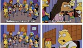 the simpsons tv scene largo music teacher nobody likes milhouse funny pics pictures pic picture image photo images photos lol