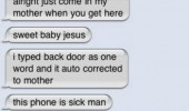 sms text iphone come inside mother autocorrect fail funny pics pictures pic picture image photo images photos lol