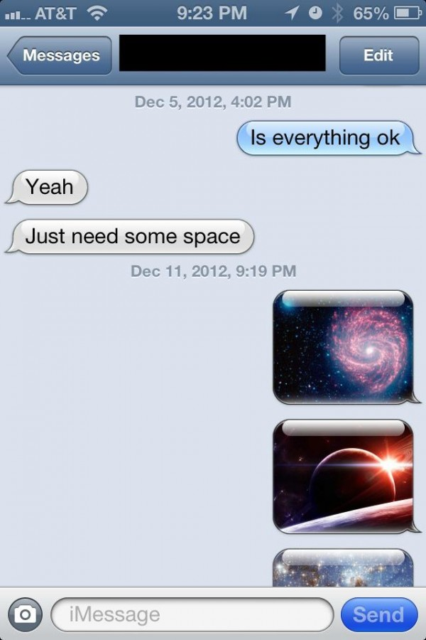 sms text iphone message just need some space apple funny pics pictures pic picture image photo images photos lol