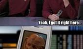 star trek tv picard drunk chick nailed mobile phone god damn funny pics pictures pic picture image photo images photos lol