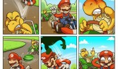 super mario kart comic nintendo koppa shell luigi dead gaming funny pics pictures pic picture image photo images photos lol