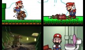 sad depressed super mario kill koppa toad police arrested hang cell comic gaming nintendo funny pics pictures pic picture image photo images photos lol